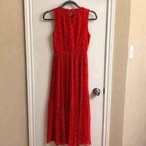 Maison Jules Dresses - Romantic red pleated midi dress